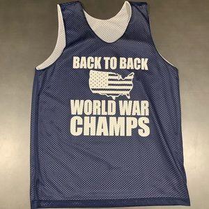 USA World War Champs Basketball Jersey Men's Small